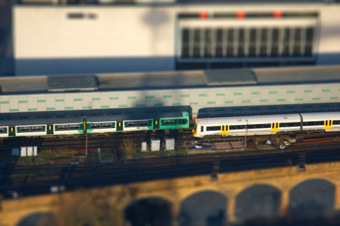 Green Train meets White Train